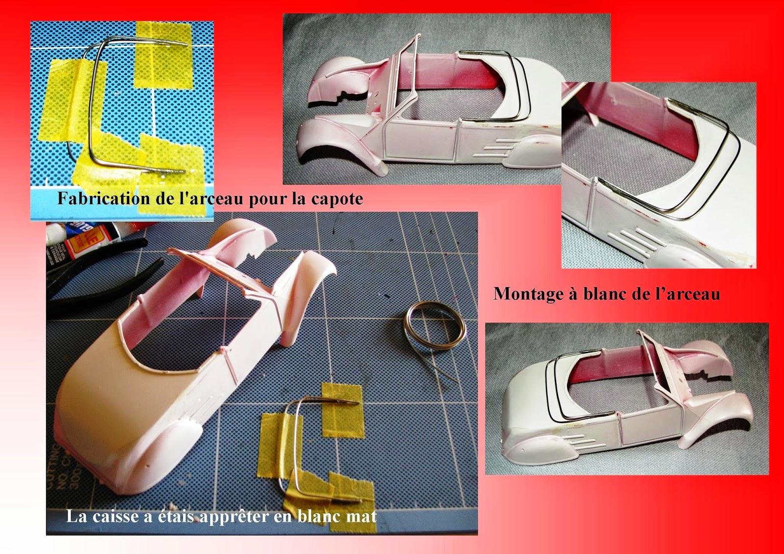 en mod u00e8le r u00e9duit  2cv style cabriolet azelle sur base