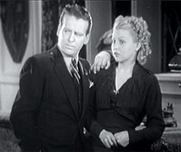 Wallace Ford as Jimmy and Barbara Pepper as Marjorie in The Rogues' Tavern