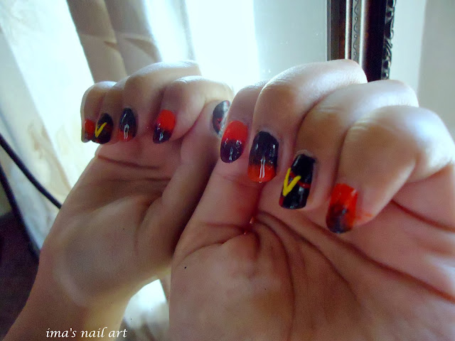 Imas nail art i was so excited about the vampire diaries season 5 so i decided to design some nail art relating that and here it is prinsesfo Choice Image