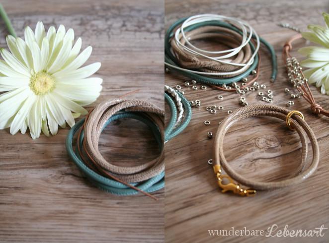 DIY Armbänder aus Leder mit Verschluss selber machen