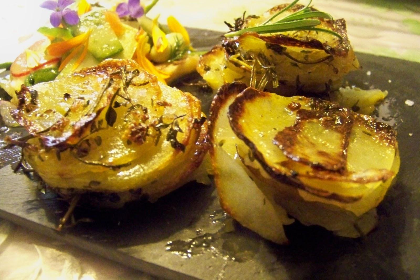 Cuisine en folie pommes de terre en mille feuilles - Feuille pomme de terre ...