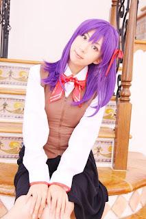 Fate/Stay Night Sakura Matou Seifuku Cosplay by Sachi Budou