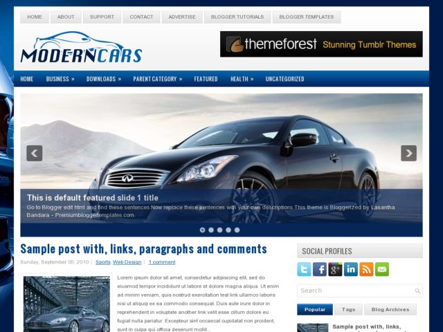Demo ModernCars Blogger Template
