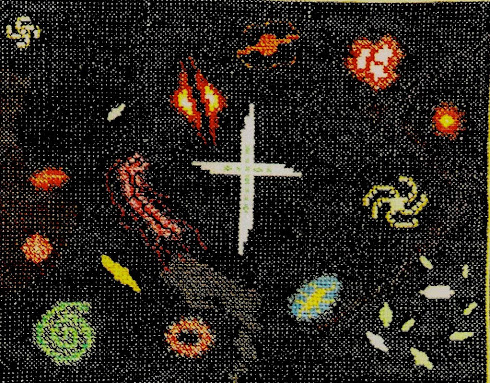 Galaxy of Galaxies (Cross-stitch embroidery)