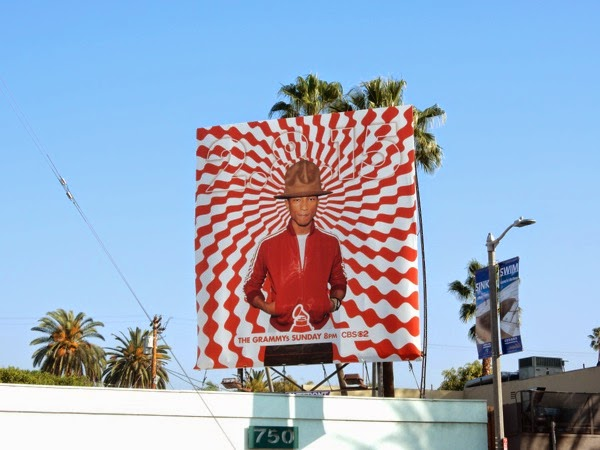 57th Grammys Pharrell billboard