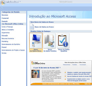 Criando banco de dados no access