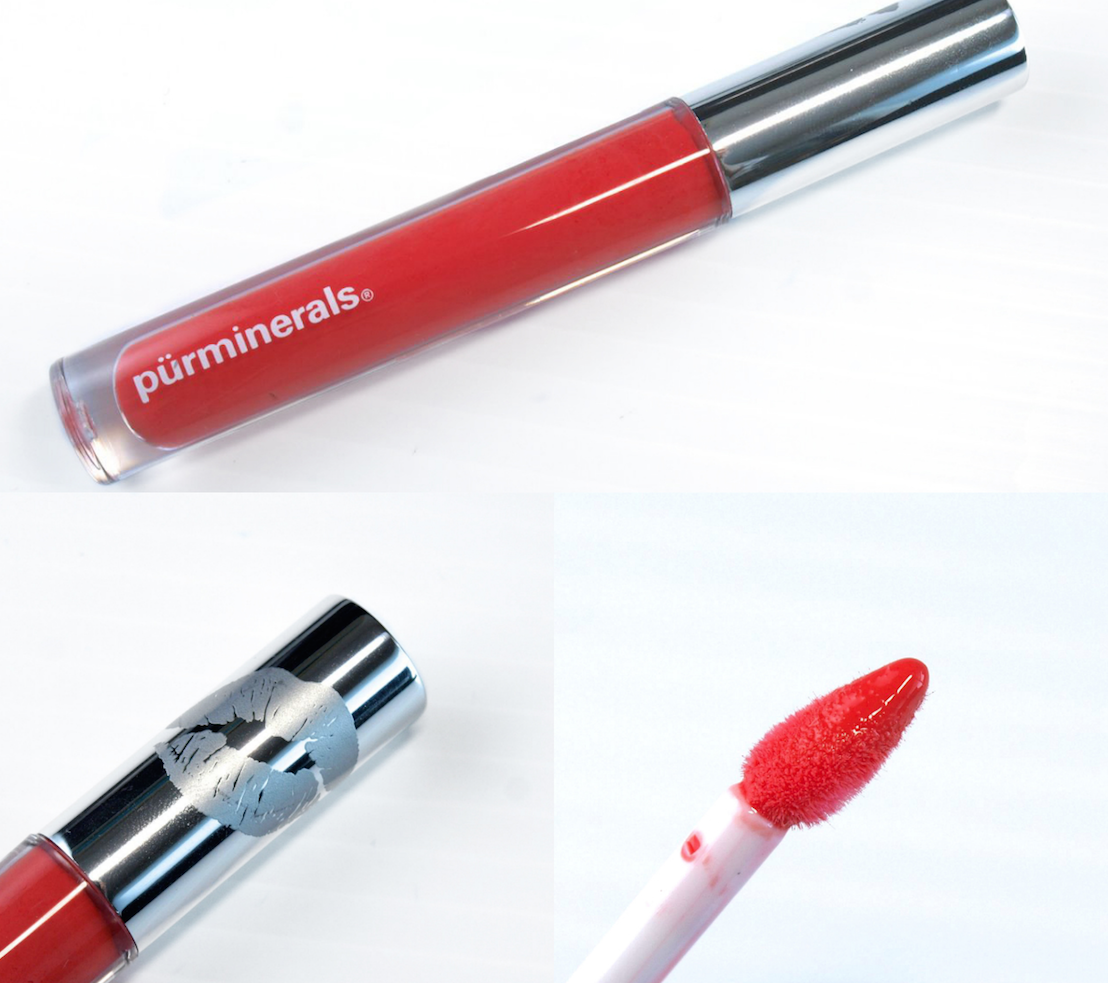purminerals big lip gloss in foxy review swatches