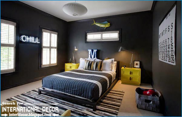 teen boys room decor,cool boys room,black paints