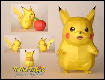 Paperpoks pokmon papercraft pikachu species mouse generation one height 04m 104 weight 60kg132 lbs interesting facts pikachu are known to have acute senses of hearing pronofoot35fo Image collections