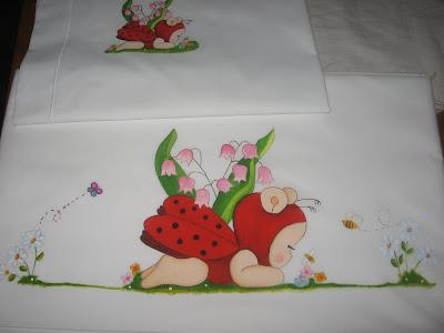 lençol da joaninha