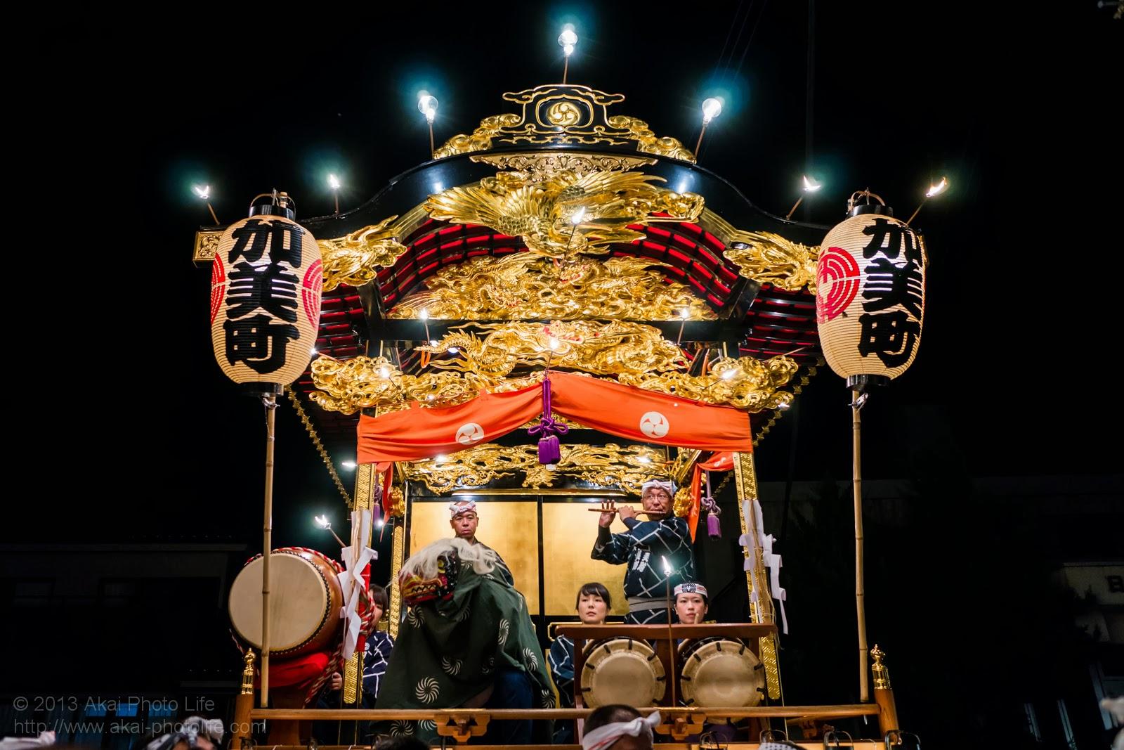 平井のお祭り、加美町の山車
