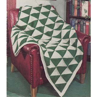 Crocheted Geometric Afghan Pattern