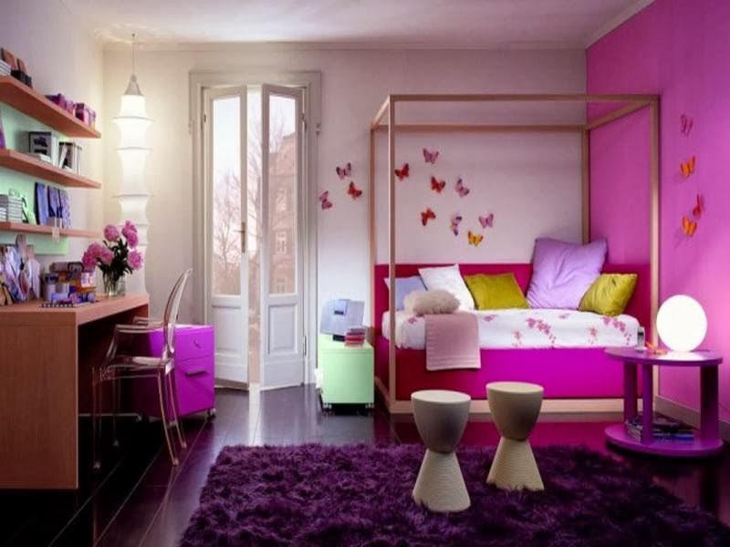 Kids bedroom ideas selecting lighting flooring furniture and theme bedroom and bathroom ideas - Interactive images of purple kid bedroom design and decoration ...