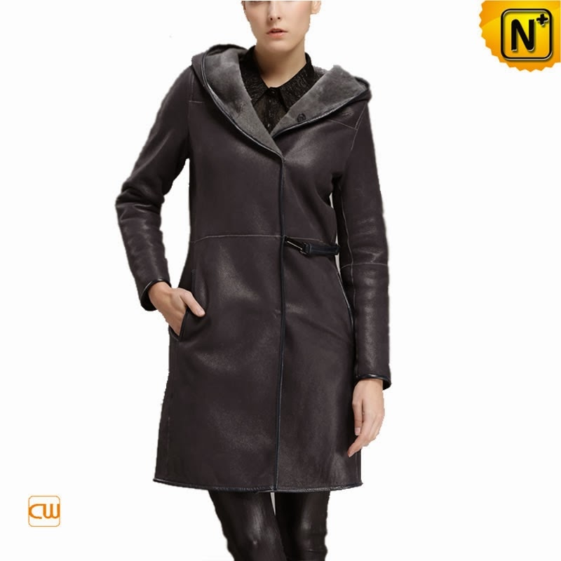 Black Hooded Fur Coat