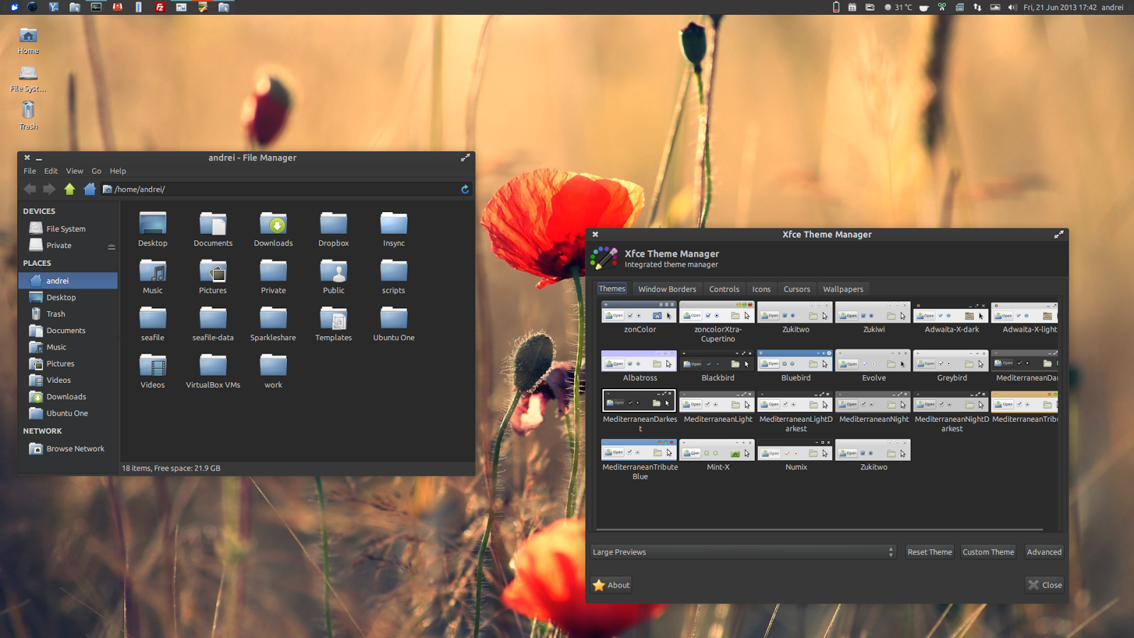 MediterraneanNight Theme Pack Gets Full GTK 3.8 Support [PPA] ~ Web ...
