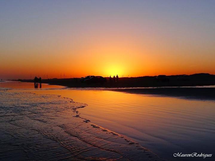 Belo Por do Sol na Praia do Cassino