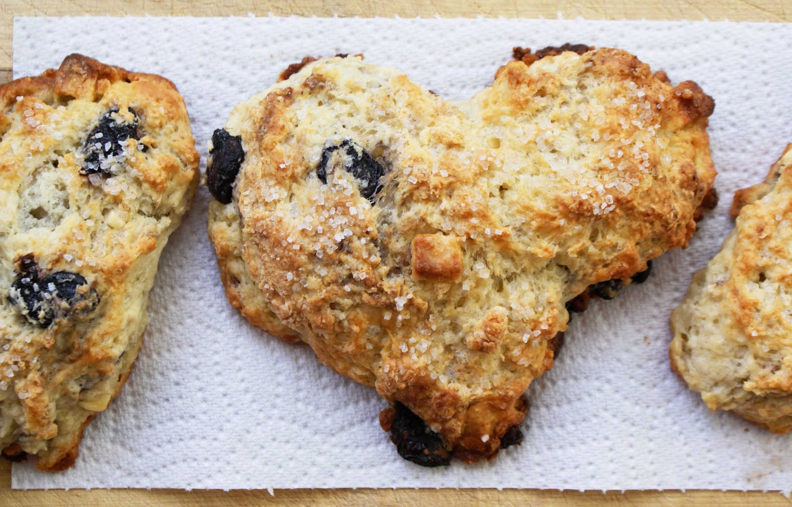 Heart- Shaped White Chocolate and Cherry Scones - Dinner With Julie ...