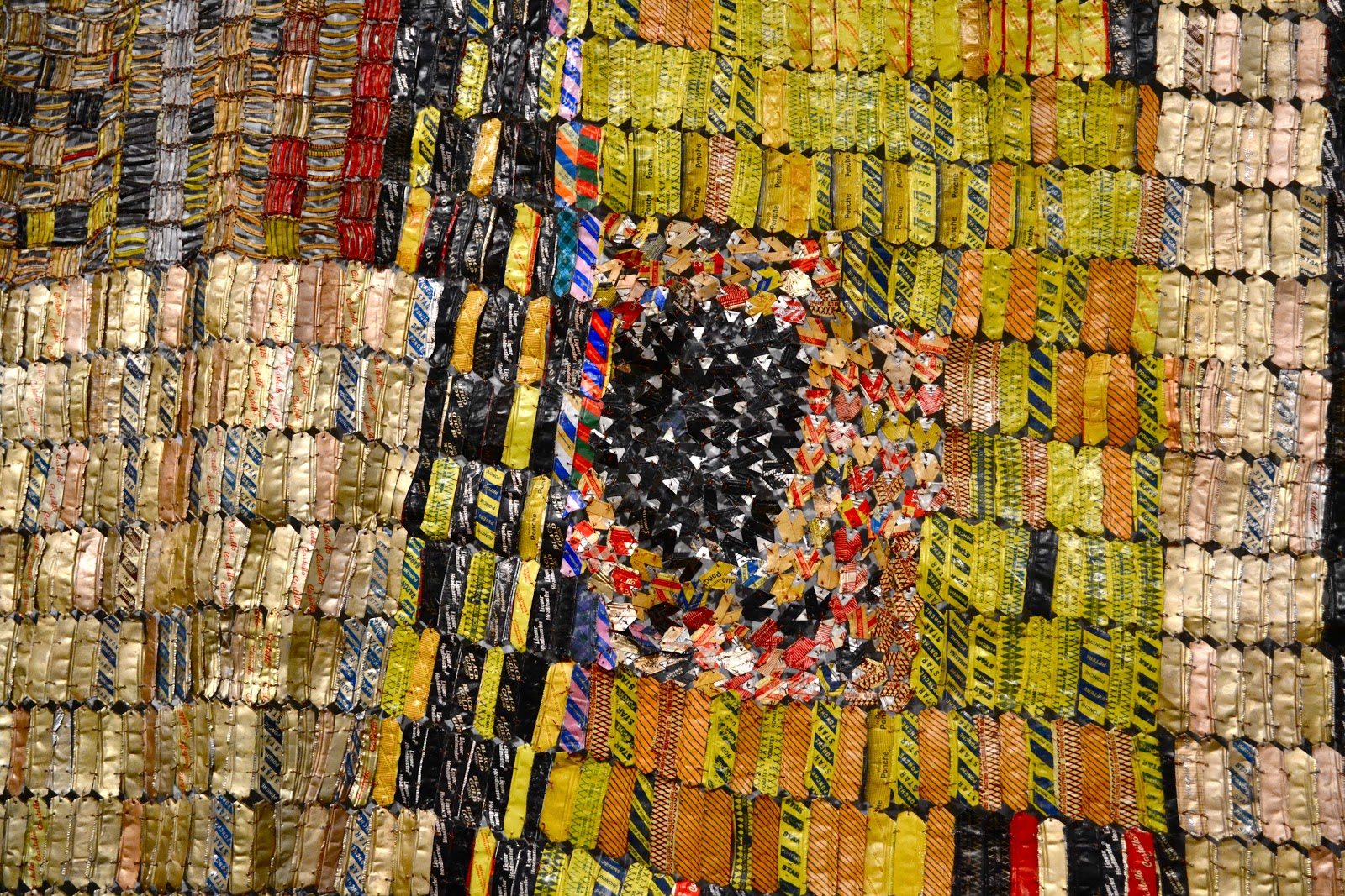 el anatsui inspired artwork But these magnificent works are mere introductions to the oversized mixed-media sculptural installations that clearly illustrate el anatsui's genius.