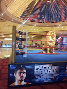 . match was a few days away, thus the boxing ring is the hotel's .