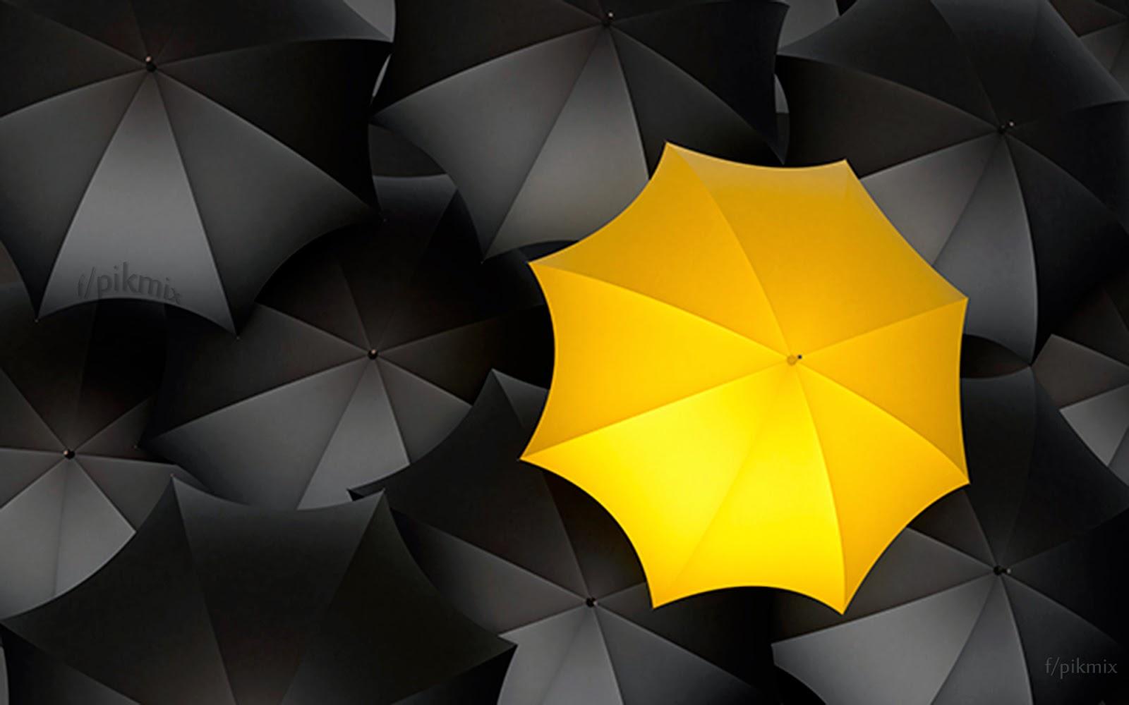 Sombrilla amarilla - Fondo de Pantalla-umbrella, paraguas