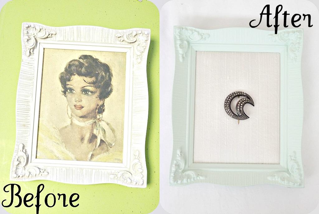 Repurpose vintage frame