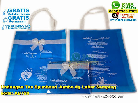 Undangan Tas Spunbond Jumbo Dg Lebar Samping