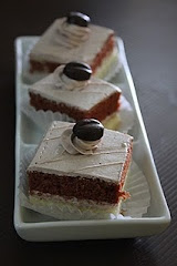 chocolate slice cakes.  rm 40 36 pieces
