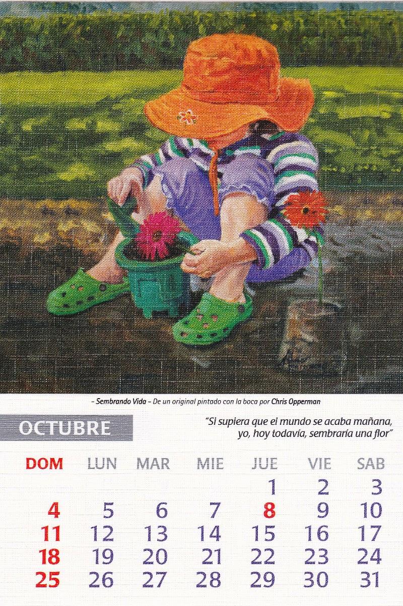 calendario 2015 octubre