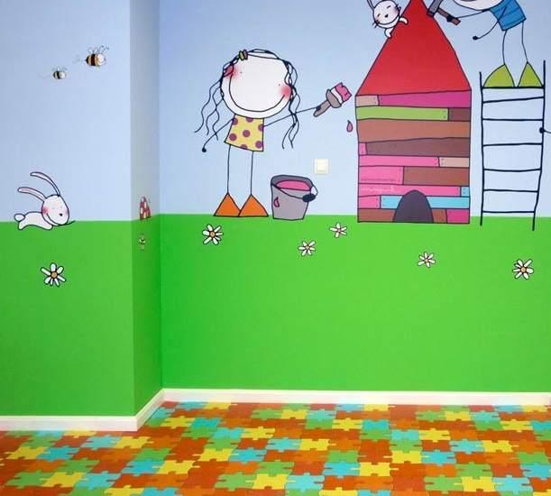 Ni o en casa habitaciones infantiles resistentes y divertidas - Pinturas habitaciones infantiles ...