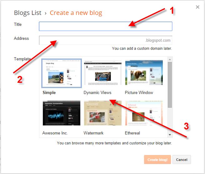 bikin blog di blogspot