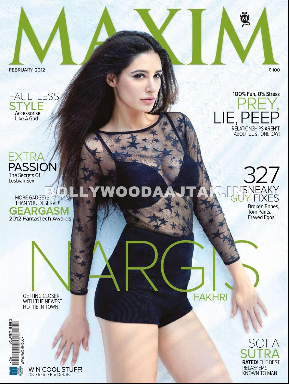 Nargis Fakhri Maxim Magazine Scan1 -  Nargis Fakhri Maxim Magazine India HQ Scans February 2012