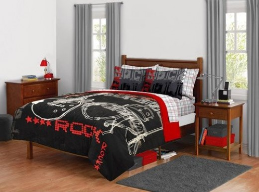 rock n roll bedroom decor interior designs for homes