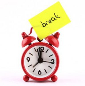 taking a break