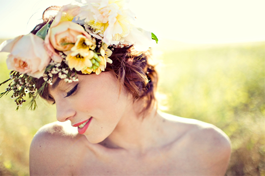 floral wedding head piece