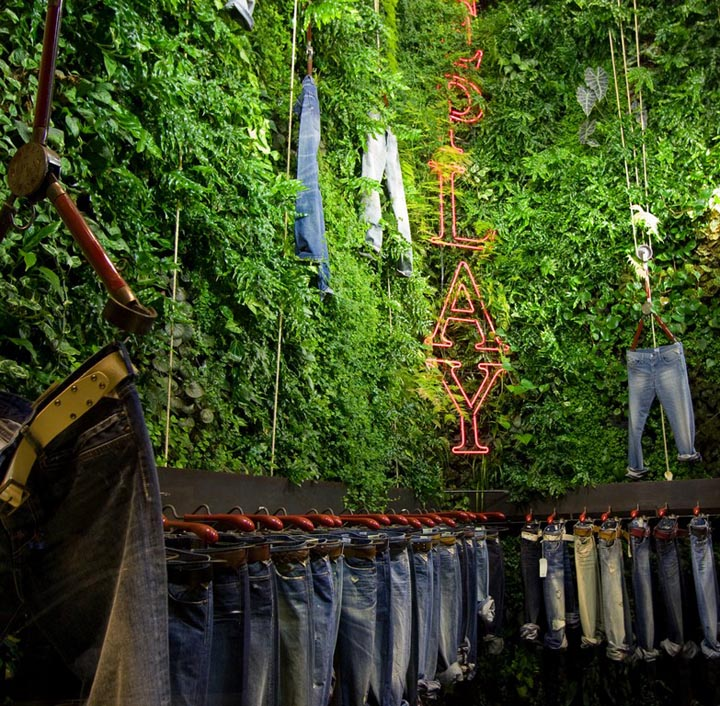 Designing For Living Replay Store By Vertical Garden