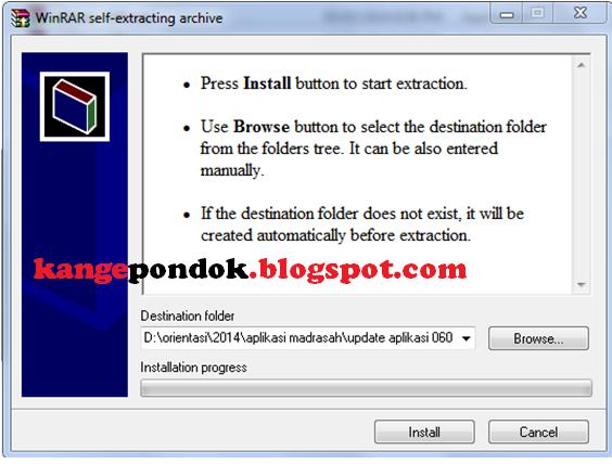 Gambar 1. Jendela instalasi aplikasi
