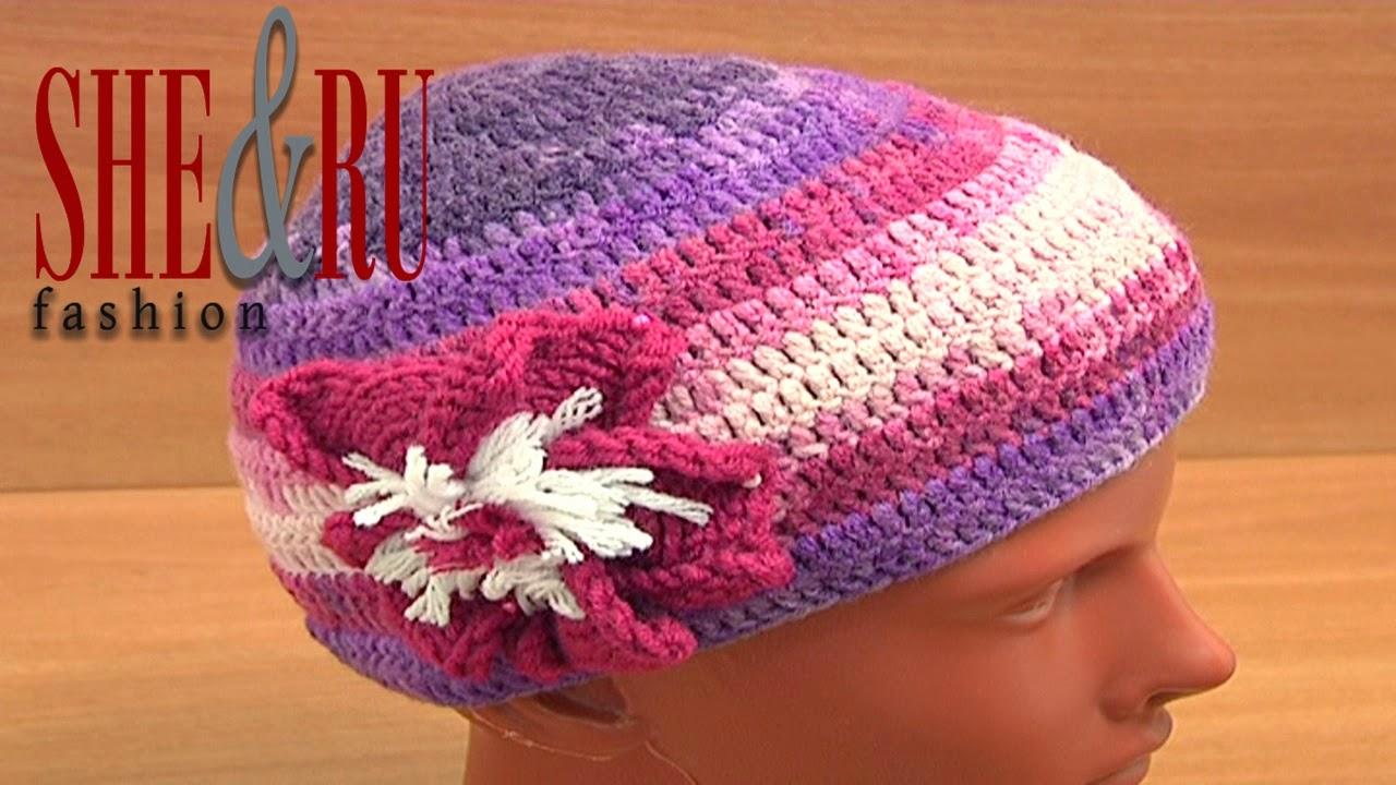 Sheruknitting How To Make Simple Crochet Hat Tutorial 2 Part 1