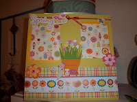 Spring time scrapbook page