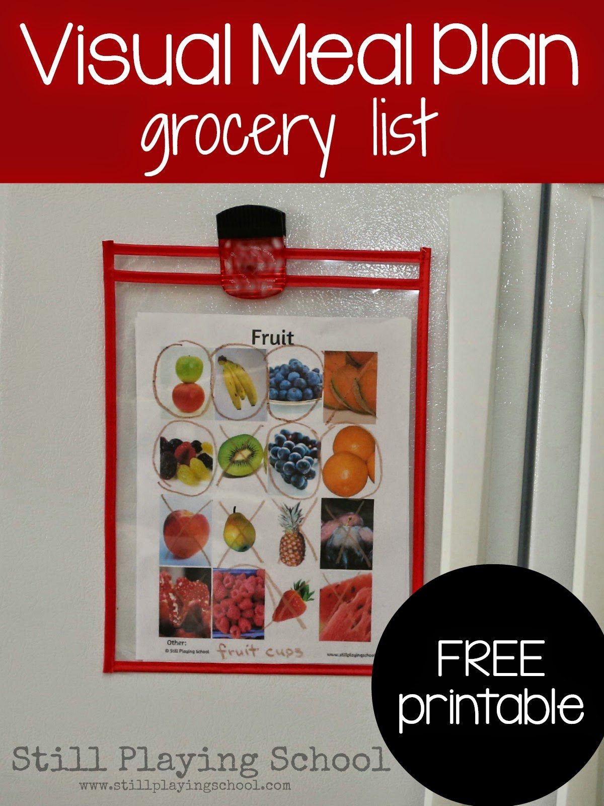 visual grocery lists for kids | still playing school