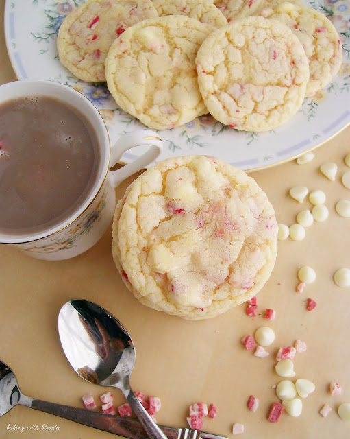 White Chocolate Chip Peppermint Sugar Cookies