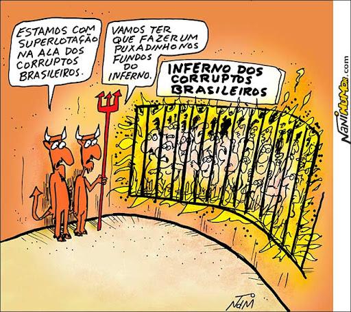 O inferno dos corruptos brasileiros
