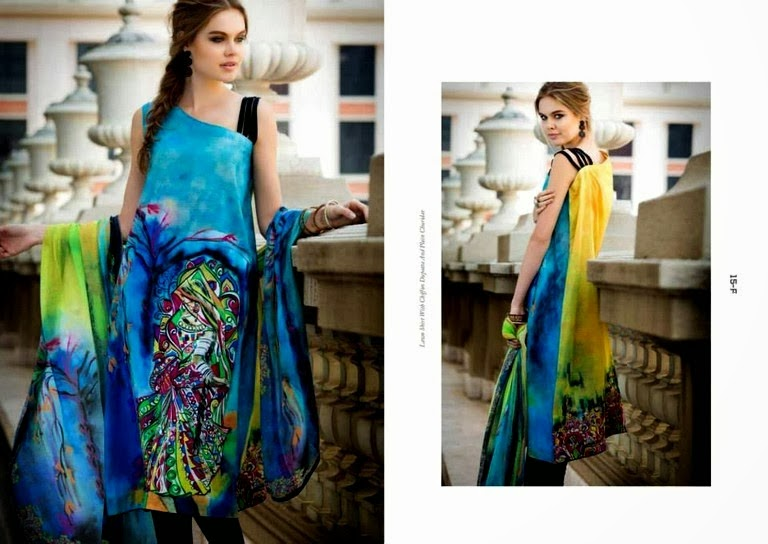 Digital Prints of Lawn By Resham Ghar