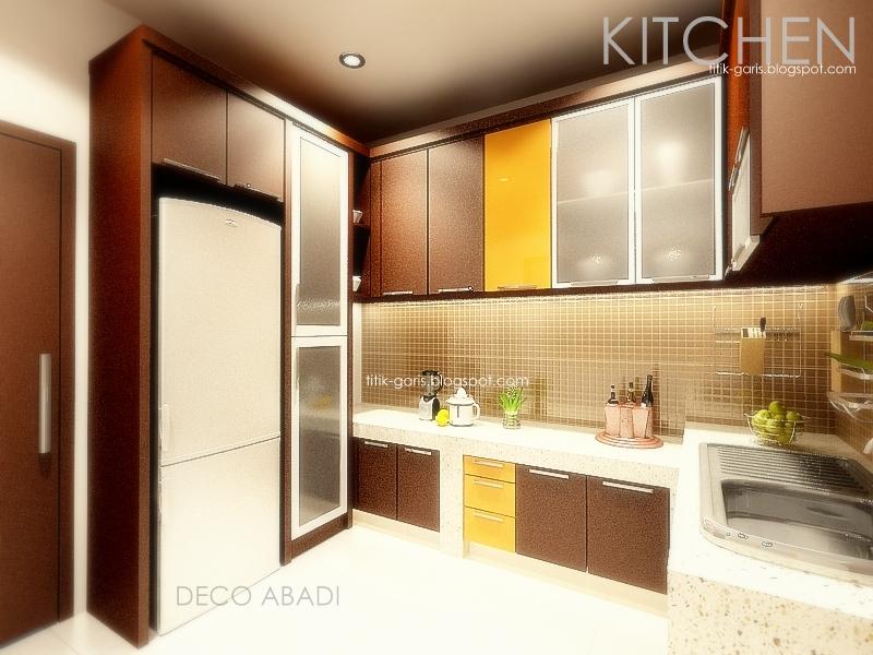 desain kitchen set makassar rumah garis