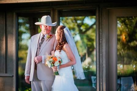 Ryan and Leslie, Father & Daughter, Bride, Texas Ranch Wedding, McGowan Images
