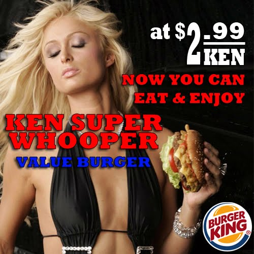 paris hilton burger king
