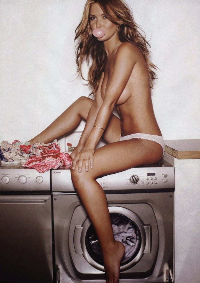 model on washing machine