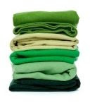 pile of green clothes