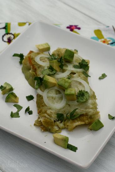 Chicken Enchiladas in Creamy Avocado Sauce {Avocados from ...