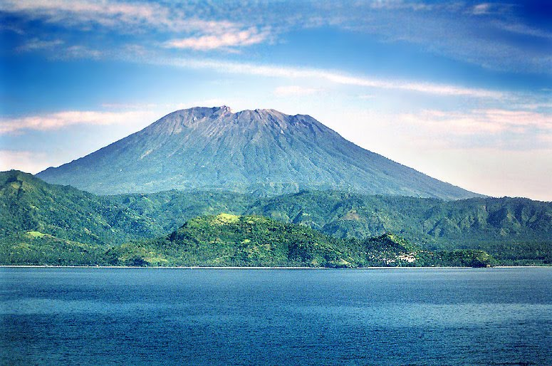 Full Picture Krakatau Mountain Indonesia