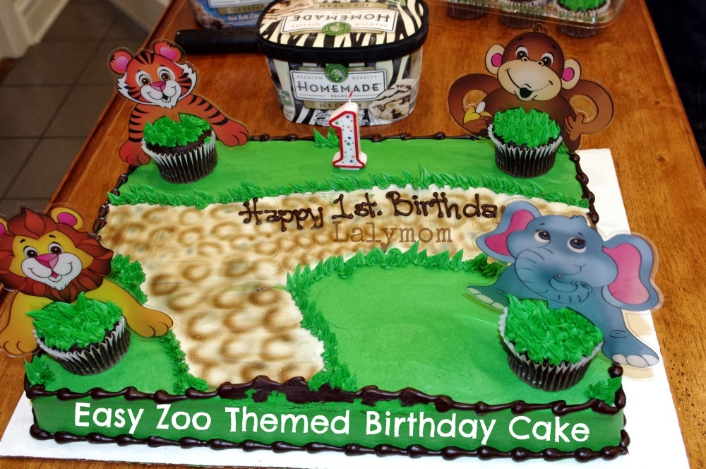Easy Zoo Themed Birthday Cake From Lalymom